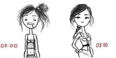 antes e depois quando acordo