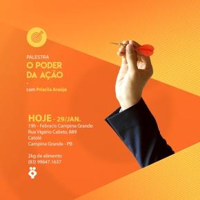 HOJE: Palestra O Poder daAção